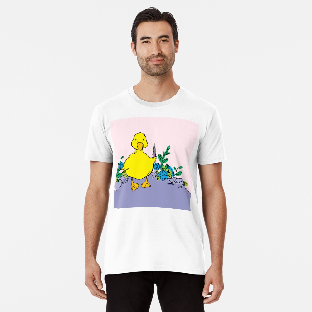 Murder Duckling with Knife Premium T-Shirt