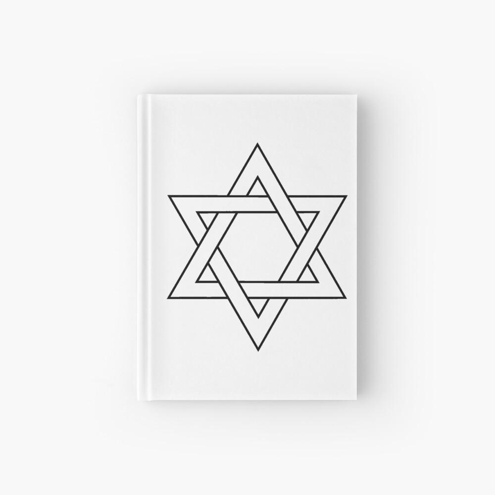 #Star of #David #Clipart #StarOfDavid Hardcover Journal