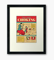 Tango Themed Choking Victim Poster Framed Print
