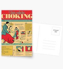 Tango Themed Choking Victim Poster Postcards