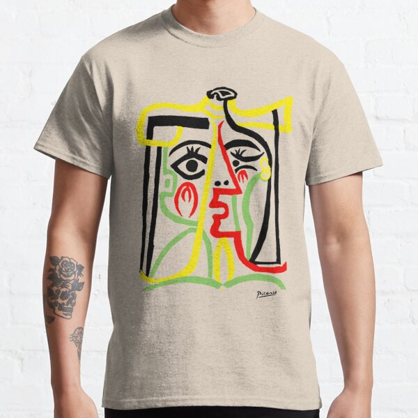 Pablo Picasso, Jacqueline with Straw Hat 1962, Artwork for Posters Prints Tshirts Women Men Kids Classic T-Shirt