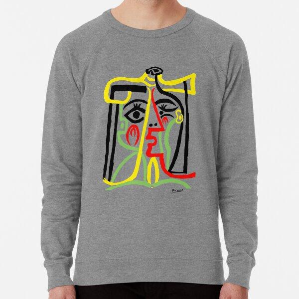 Pablo Picasso, Jacqueline with Straw Hat 1962, Artwork for Posters Prints Tshirts Women Men Kids Lightweight Sweatshirt