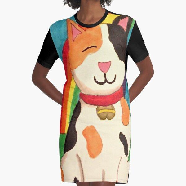 Lucky Graphic T-Shirt Dress