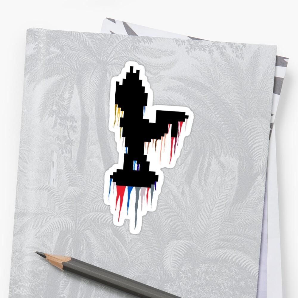 Bleeding Pixel - Zeke - ZAMN Sticker