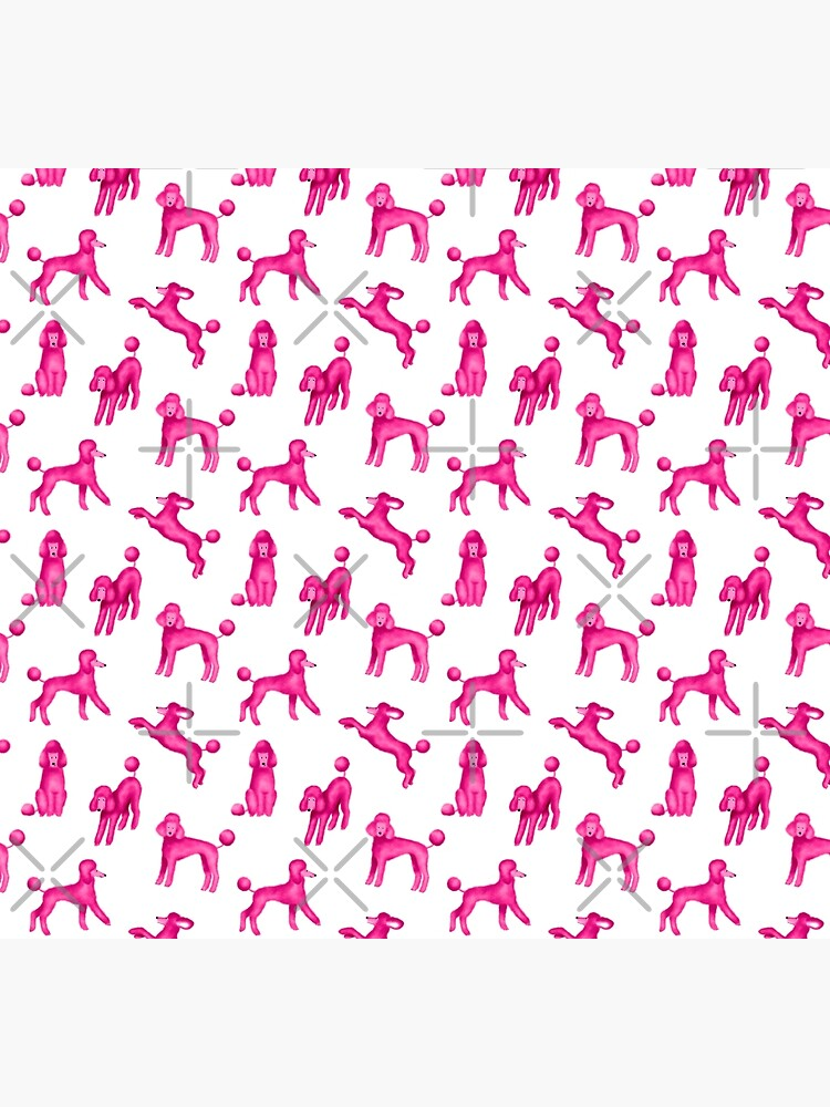 Pink Poodles by illucalliart