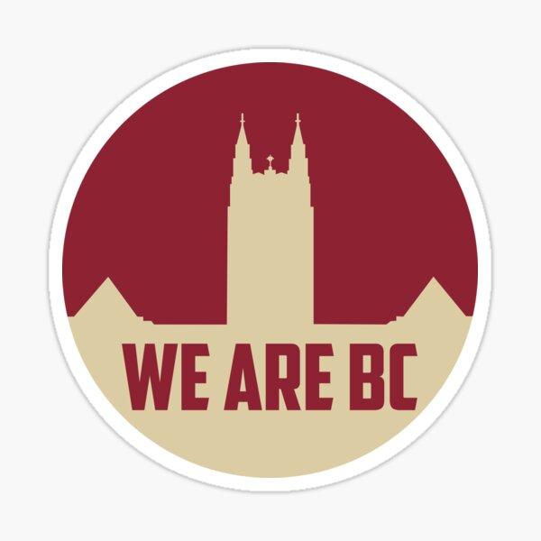 """Boston College """"We Are BC"""" Circle Sticker"""