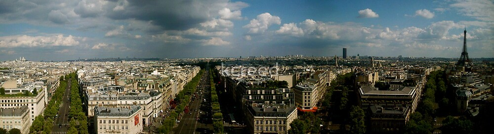 Montmartre to Eiffel, Paris by kcreed