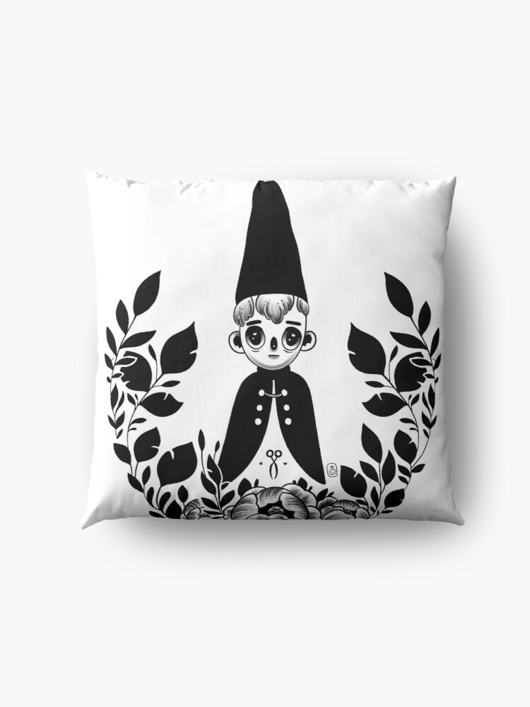 Alternate view of Wirt from Over the Garden Wall™ - Tattoo Design Floor Pillow