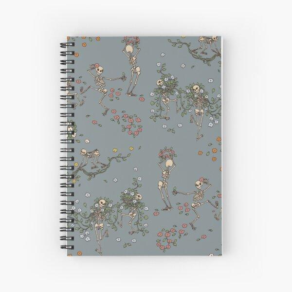 Skeletons with garlands Spiral Notebook