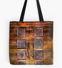 Copper Plate Door  Tote Bag