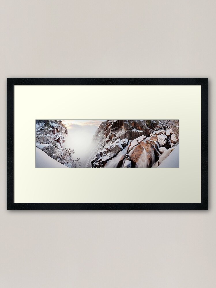 Alternate view of Crystal Falls, Mt Buffalo, Victoria, Australia Framed Art Print