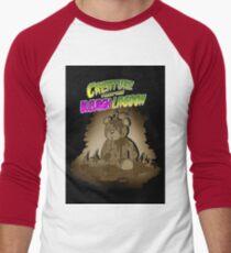 Creature from the Bleurgh Lagoon - in Sepiatone Men's Baseball ¾ T-Shirt