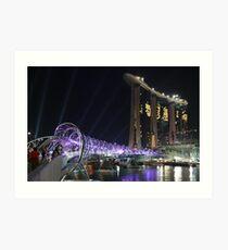 Marina Bay Bridge Art Print