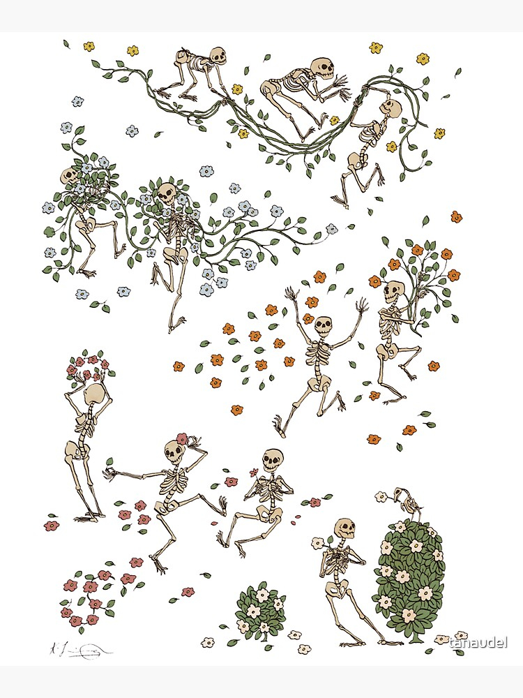Skeletons with garlands by tanaudel