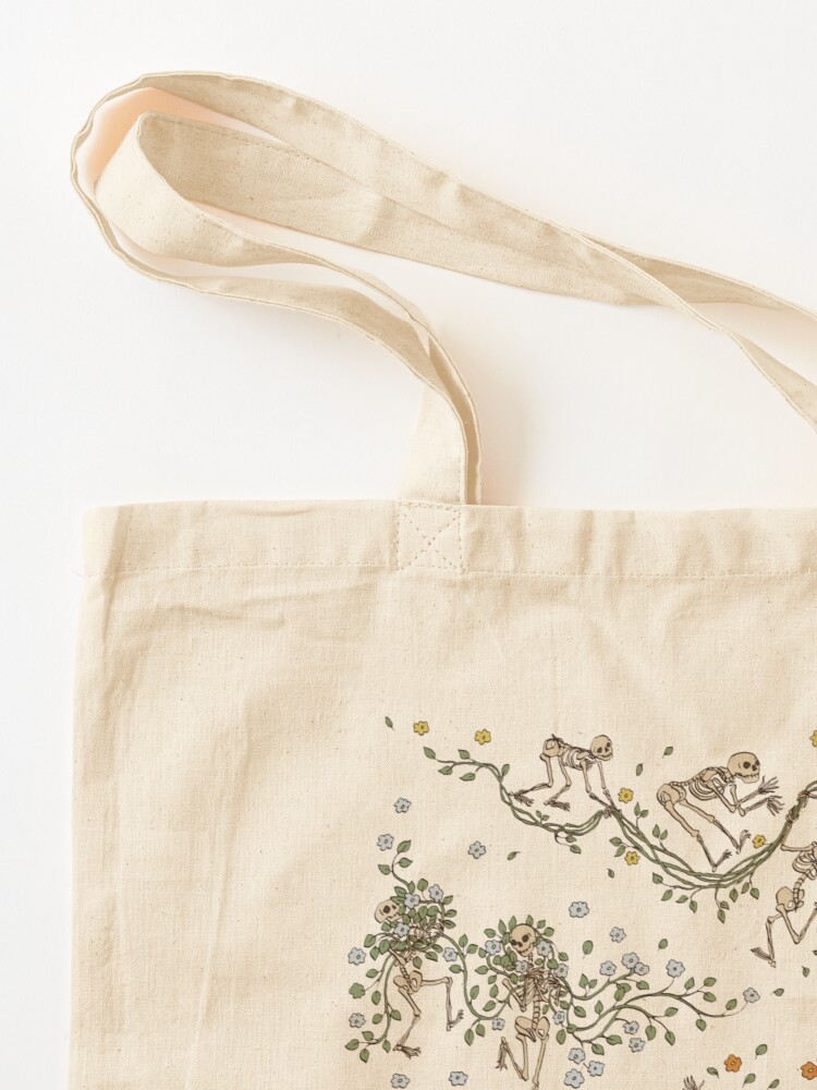 Alternate view of Skeletons with garlands Tote Bag