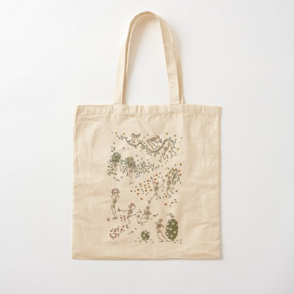 Skeletons with garlands Cotton Tote Bag