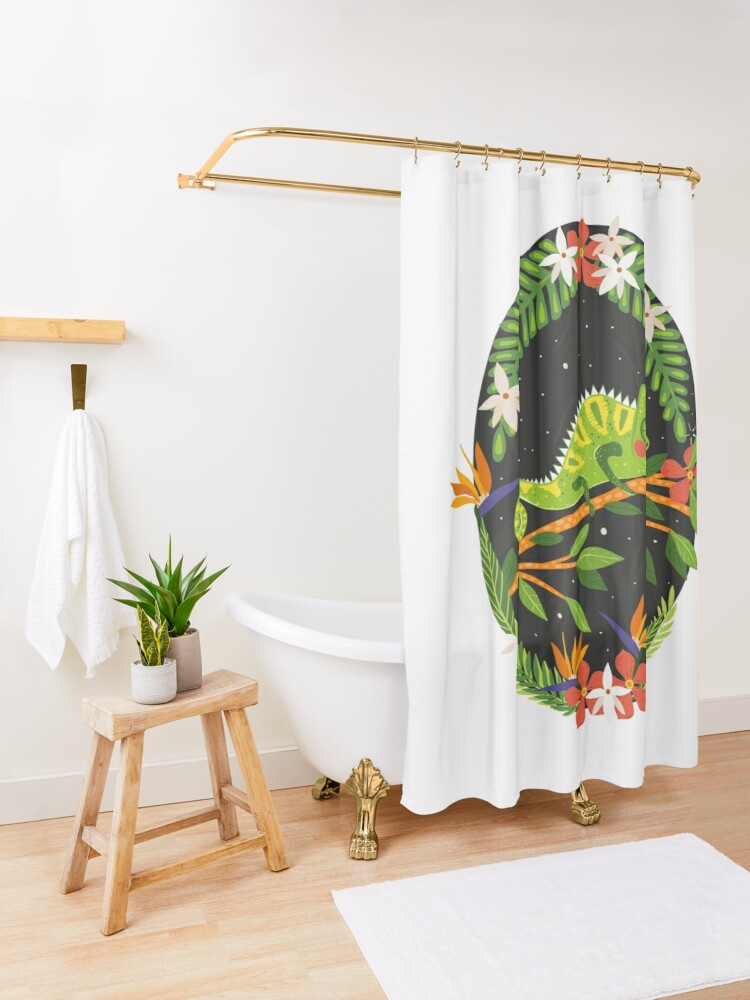 Alternate view of Chameleon Shower Curtain