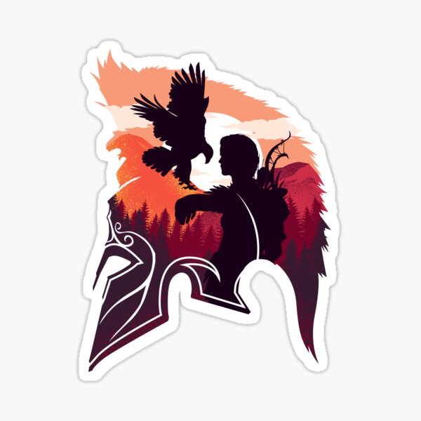 Kassandra- The Eagle Bearer Sticker Sticker