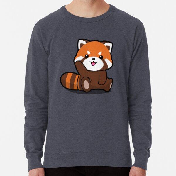 Red Cute Panda. Lightweight Sweatshirt