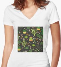 Prairie plants Fitted V-Neck T-Shirt