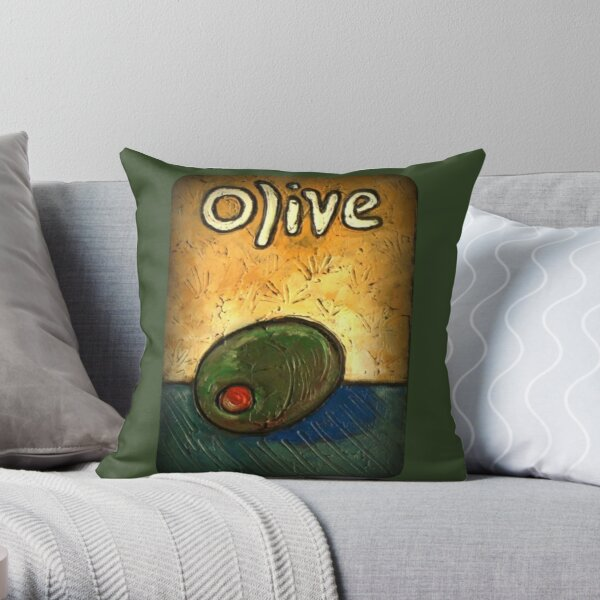 OLIVE Olive lovers dream Throw Pillow