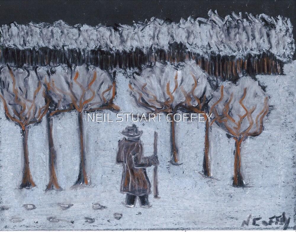 LATE WALK IN THE SNOW by NEIL STUART COFFEY