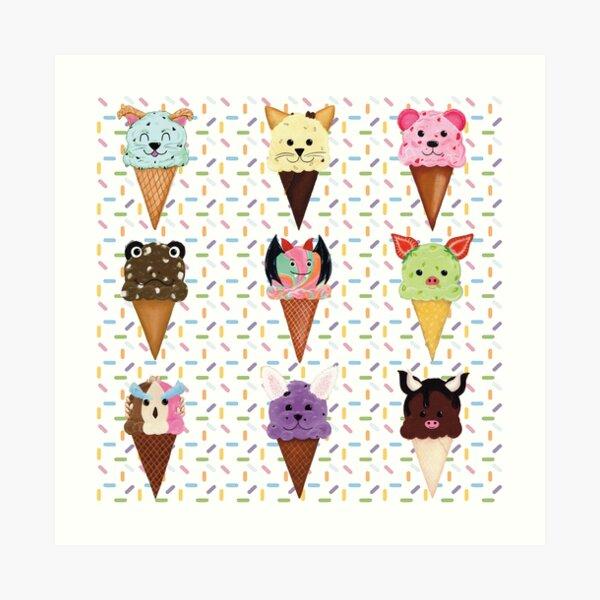 Ice Cream Cutie Collection Art Print