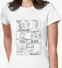 Weeping Angel Comic Women's Fitted T-Shirt
