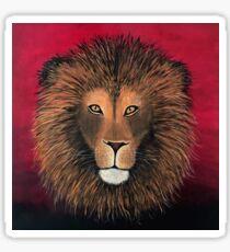 Lion Painting Print Sticker