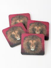 Lion Painting Print Coasters