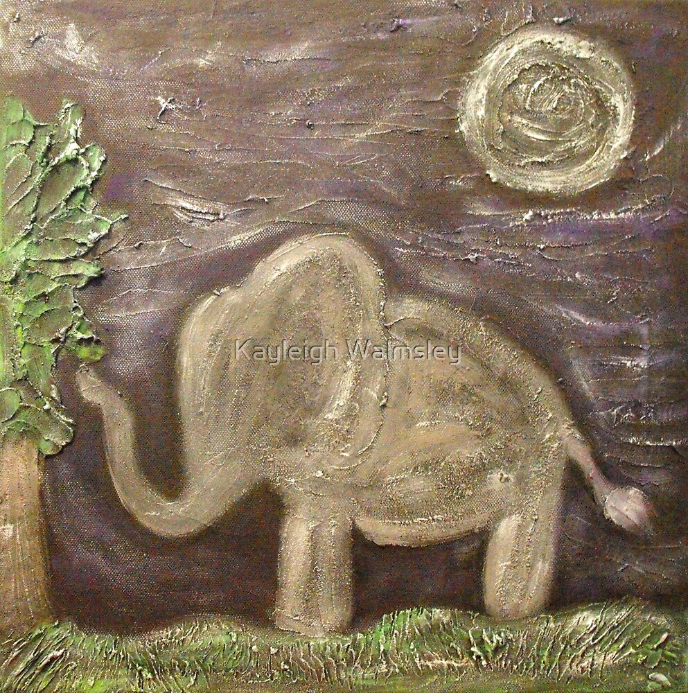 Elephant in Moonlight by Kayleigh Walmsley