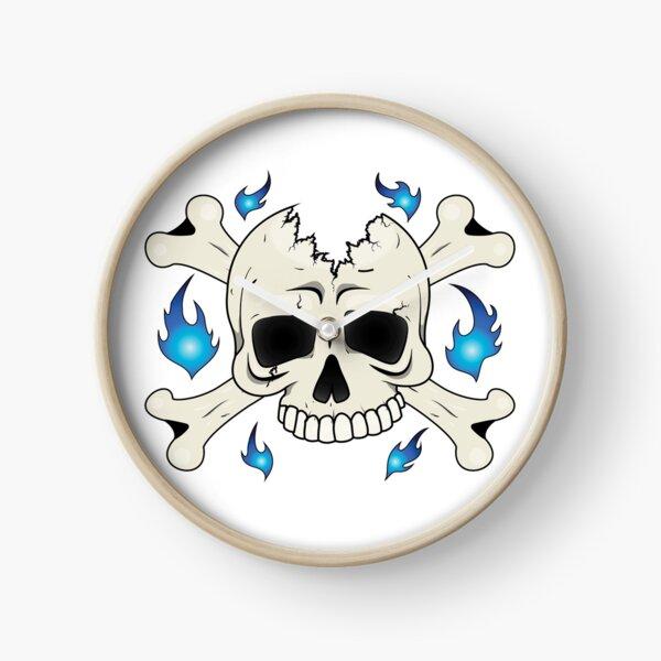 Broken Skull Clock