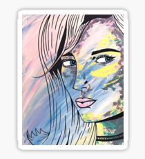 They Call Her Poppy - Acrylic Painting Print Sticker