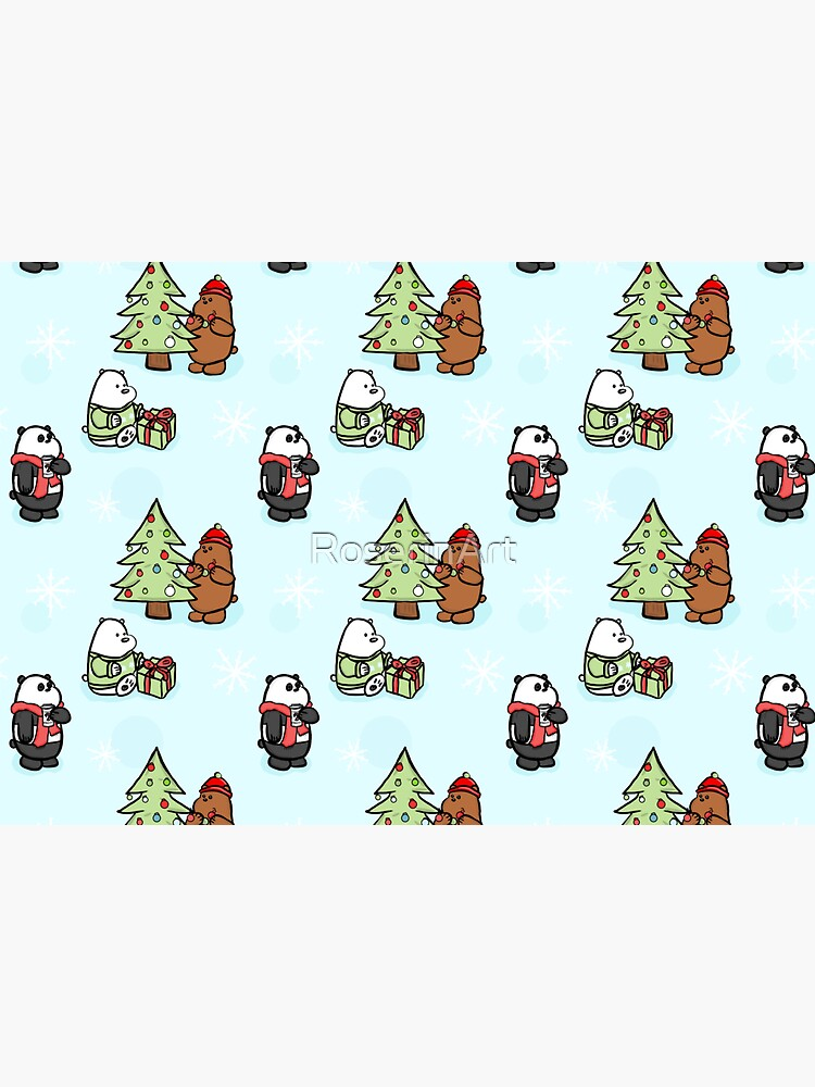 We Bare Bears Christmas Pattern by RoserinArt