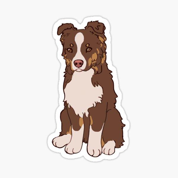 Red Tri Australian Shepherd - Aussie Ripley Sticker