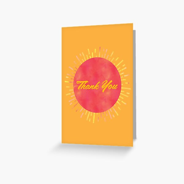 Thank You III Greeting Card
