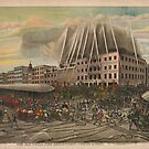 Vintage Old Philadelphia Fire Department of 1850 Print by GumptionLLC