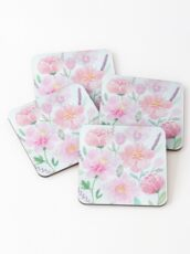Watercolour Peonies  Coasters