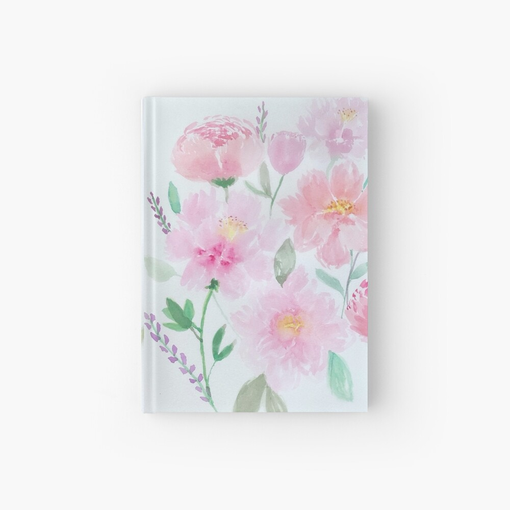 Watercolour Peonies  Hardcover Journal