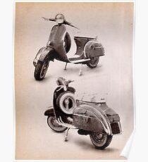Vespa Scooter 1969 Poster