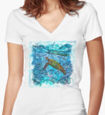The Atlas of Dreams - Color Plate 234 Fitted V-Neck T-Shirt