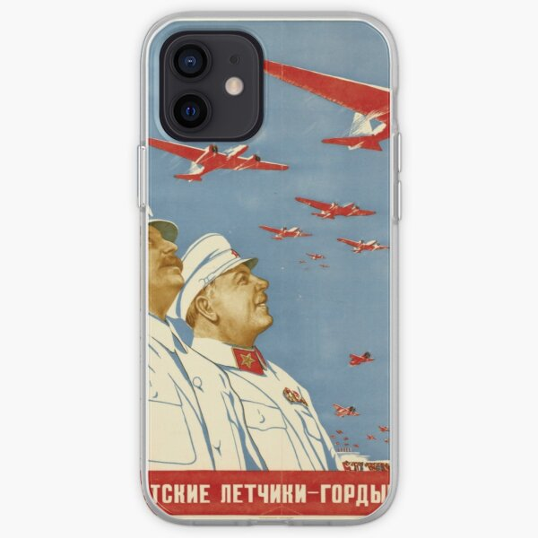 Long live the Soviet pilots - the proud falcons of our Motherland. Poster, Lithography, Paper, 1938 iPhone Soft Case