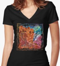 The Atlas of Dreams - Color Plate 235 Fitted V-Neck T-Shirt