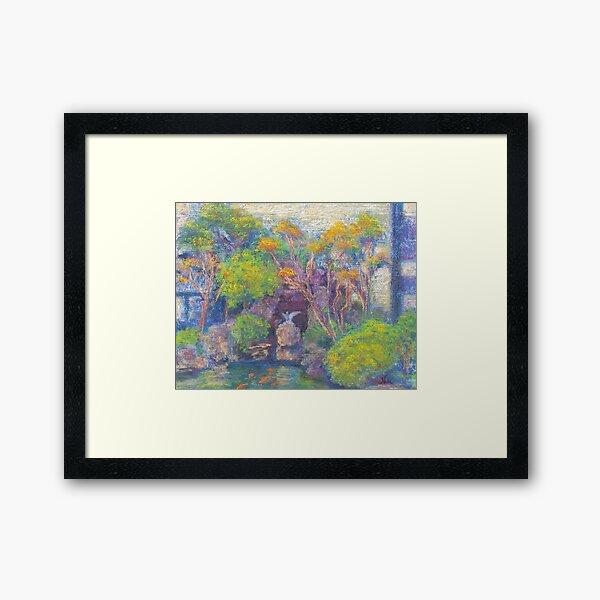Kabuki Koi Pond (pastel) Framed Art Print