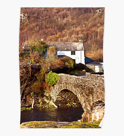 Cottage on the River Duddon Poster