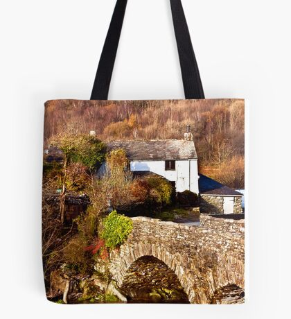 Cottage on the River Duddon Tote Bag