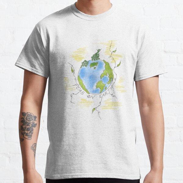 Erbsen auf Erde-lustiger Veggie-Kunst Classic T-Shirt