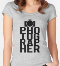 Camera Photographer Women's Fitted Scoop T-Shirt