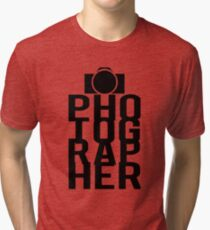 Camera Photographer Tri-blend T-Shirt