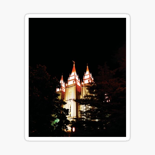 The Temple Lit Up at Night by Jerald Simon (Music Motivation - musicmotivation.com) Sticker